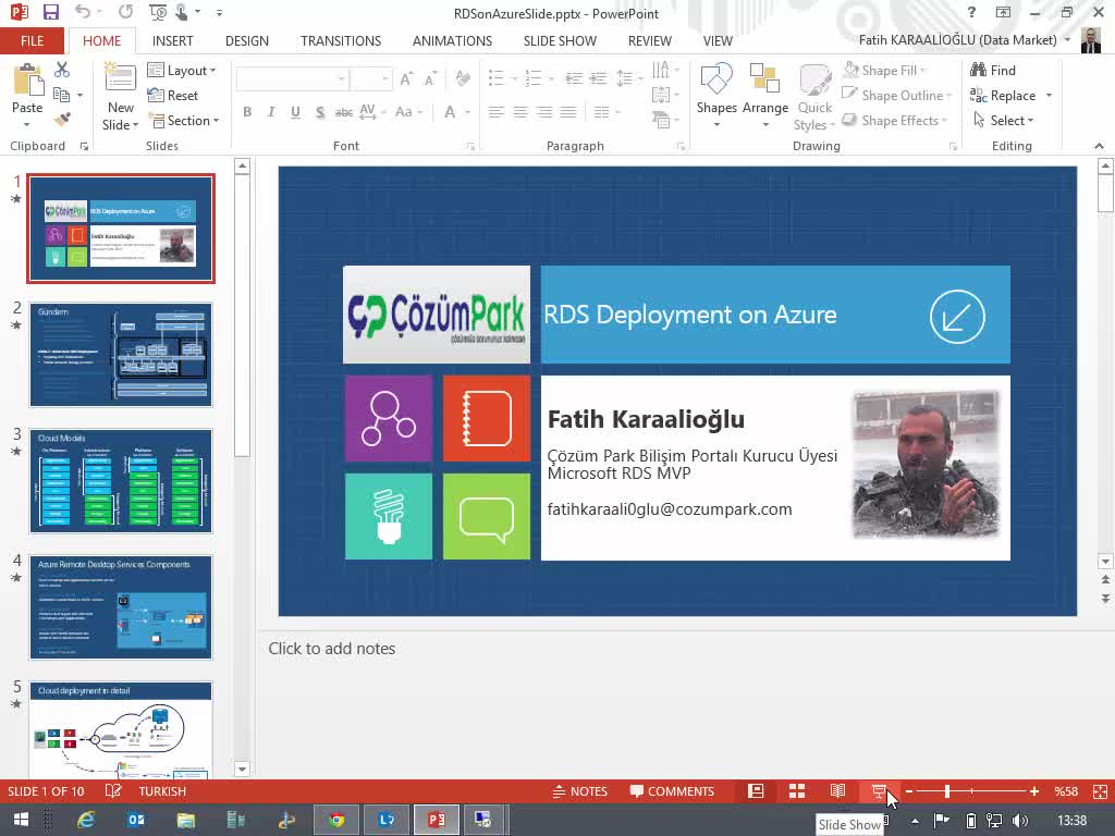 RDS Basic Deployment on the Azure
