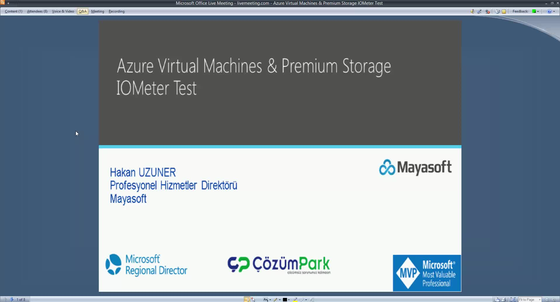 Azure Virtual Machines - Premium Storage IOMeter Test