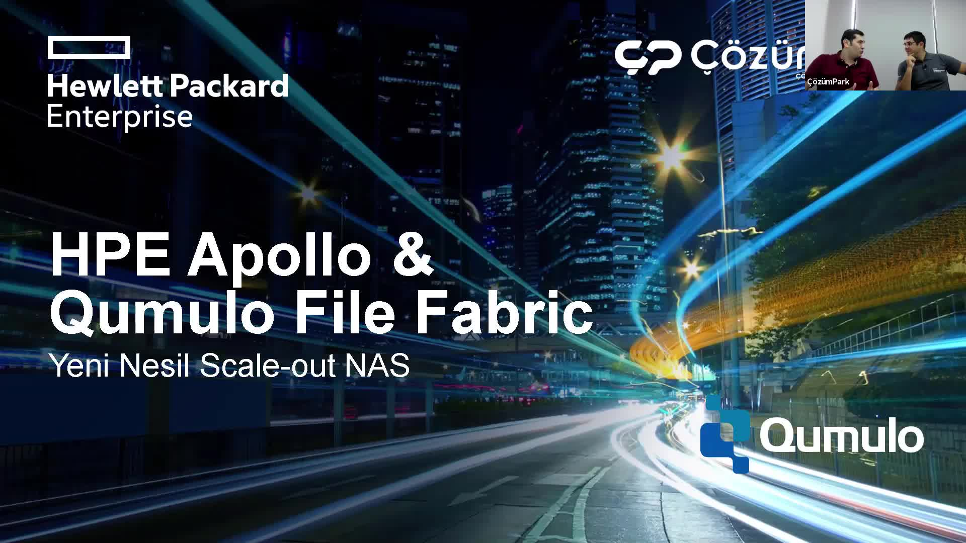 HPE Apollo - Qumulo File Fabric - Yeni Nesil Scale-out NAS