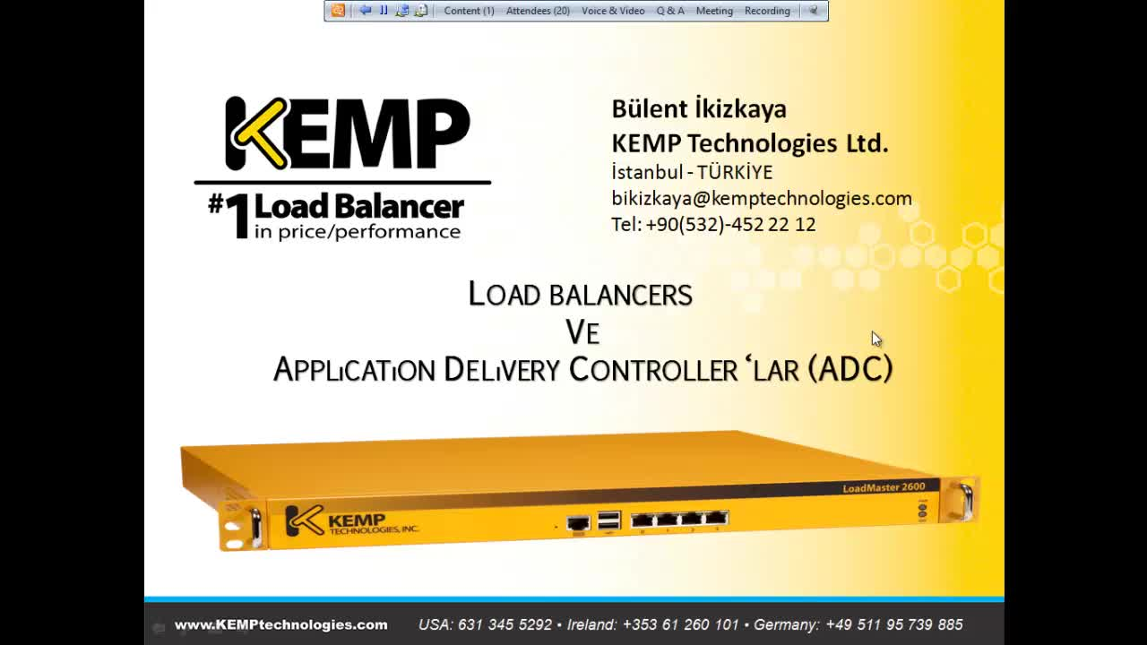 Load Balancers ve Application Delivery Controller ADC