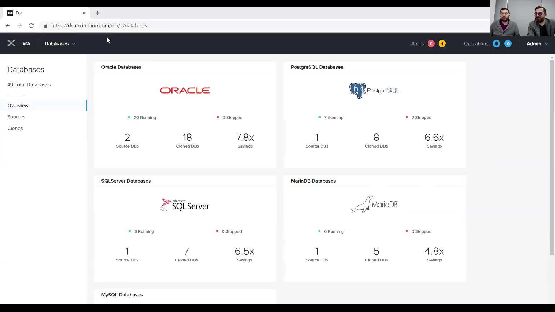 Nutanix Copy Data Management ile Veri Tabanı operasyonları