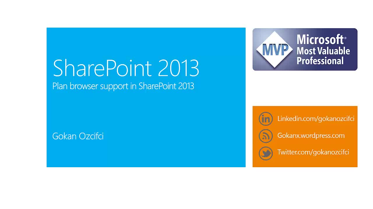 Plan Browser Support for SharePoint 2013