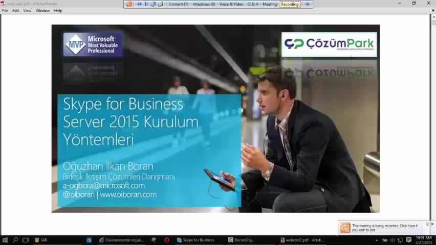 Skype for Business Server Kurulum
