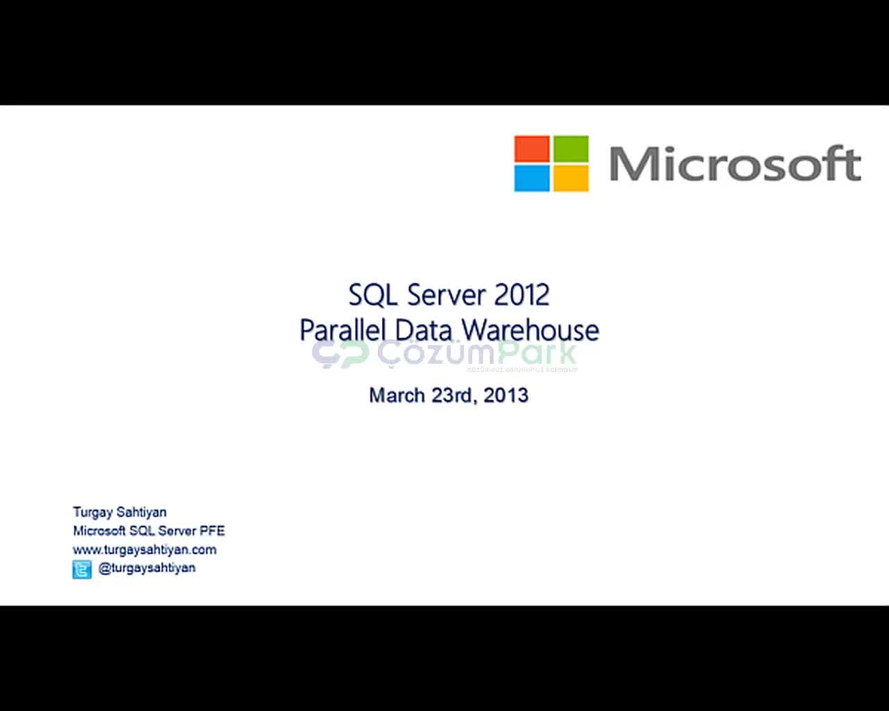 SQL Server 2012 Paralel Data Warehouse