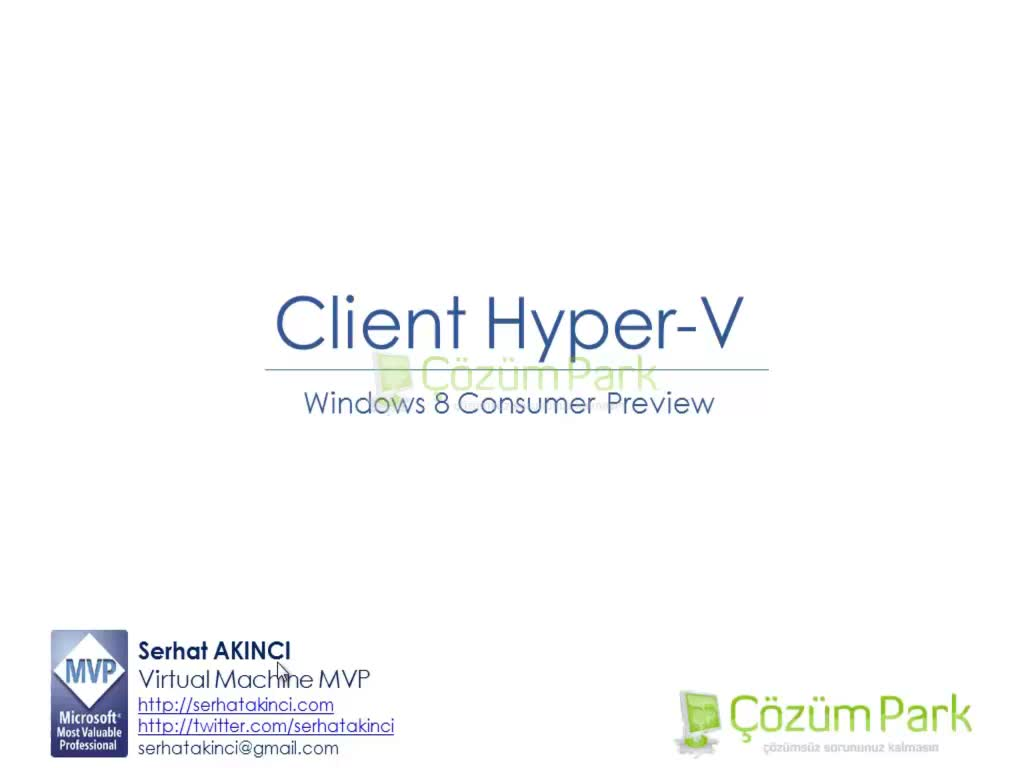 Windows 8 Client Hyper-V