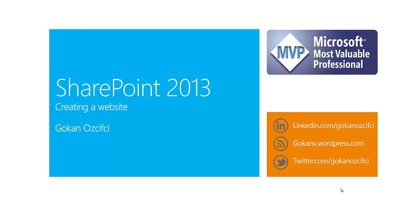 Sharepoint 2013 Creating a Website