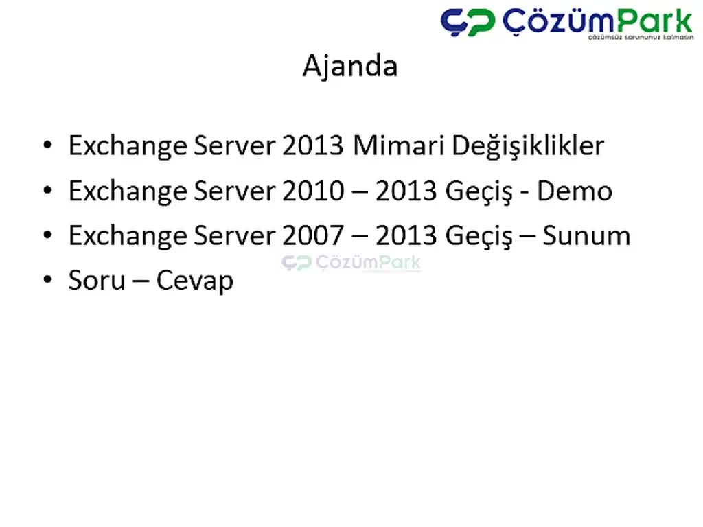 Exchange Server Migration 2010 to 2013