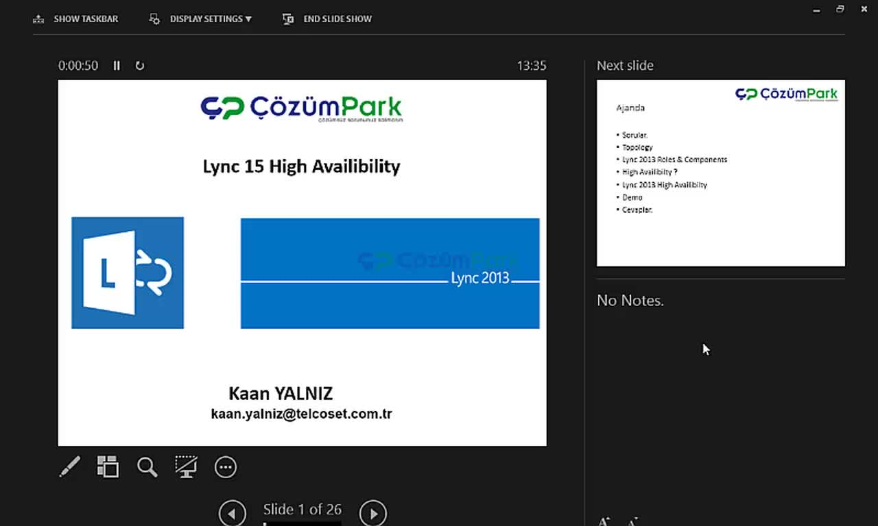 Lync 2013 Enterprise Kurulumu ve High Availability