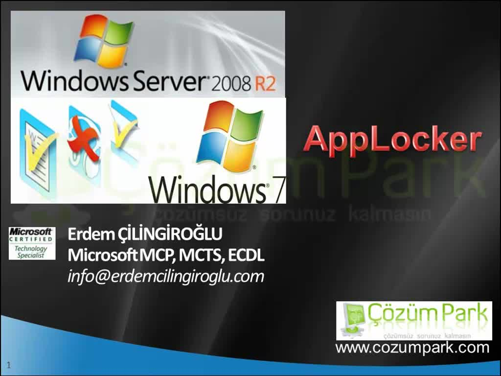Windows 7 Applocker Uygulamaları
