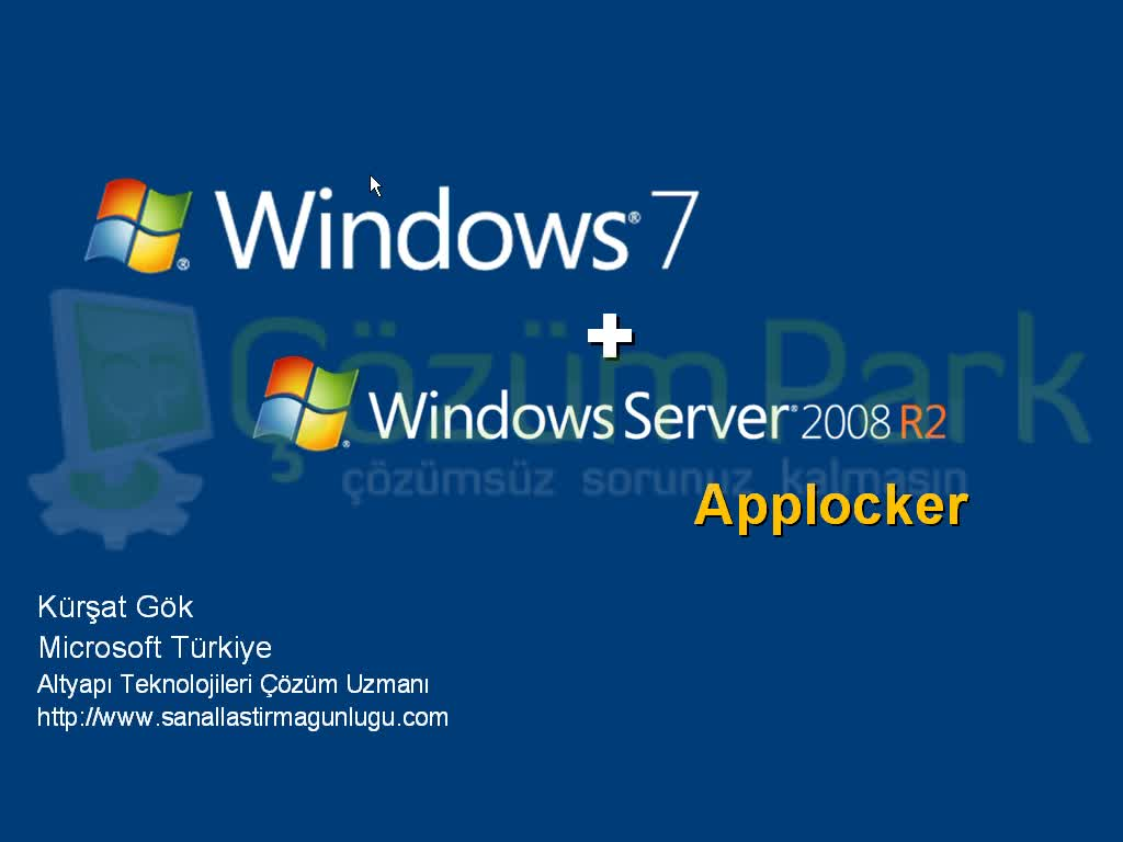 Windows Server 2008 R2 ve Windows 7 Applocker Uygulamaları