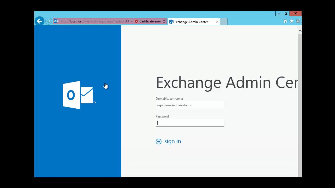 Exchange Server 2013 SP1 Owa İnternal External Name ve Login Ayarları