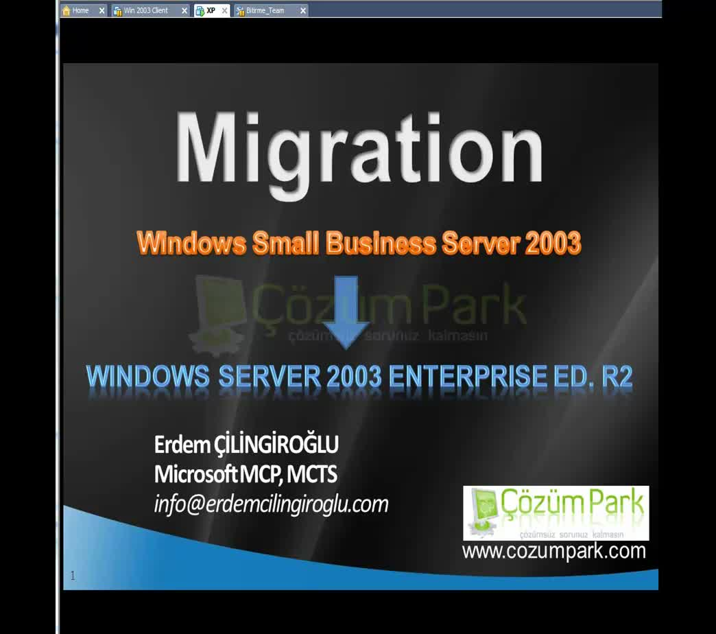 SBS 2003 to Windows Server 2003 R2 Migration