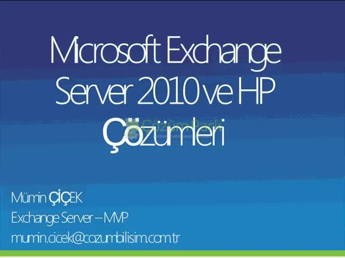 Exchange Server 2010 ve Storage Çözümleri