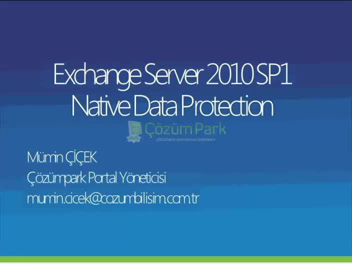 Exchange Server 2010 SP1 Native Data Protection