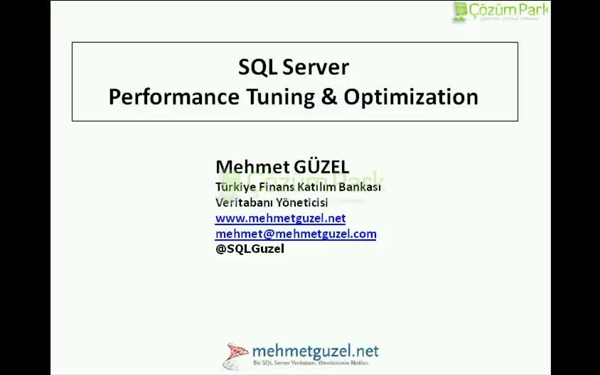SQL Server Performance Tuning Optimization v2