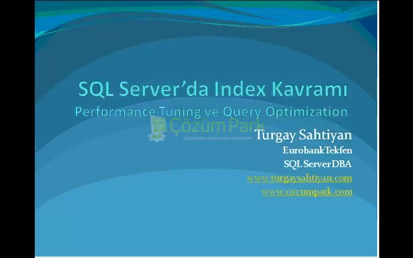 SQL Server İndeks Kavramı - SQL Server index
