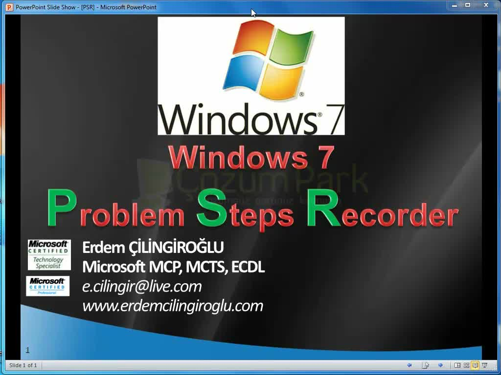 windows 7 Problem Steps Recorder
