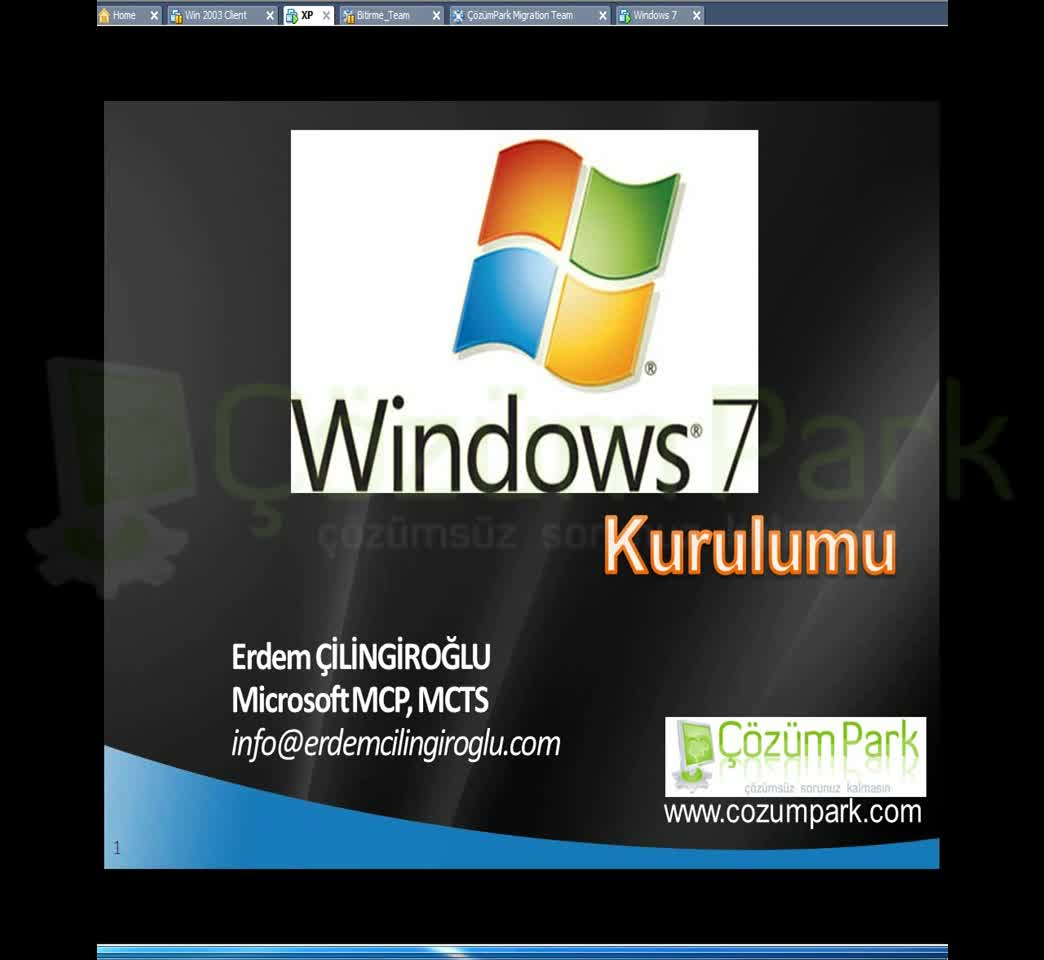 Windows 7 Kurulum