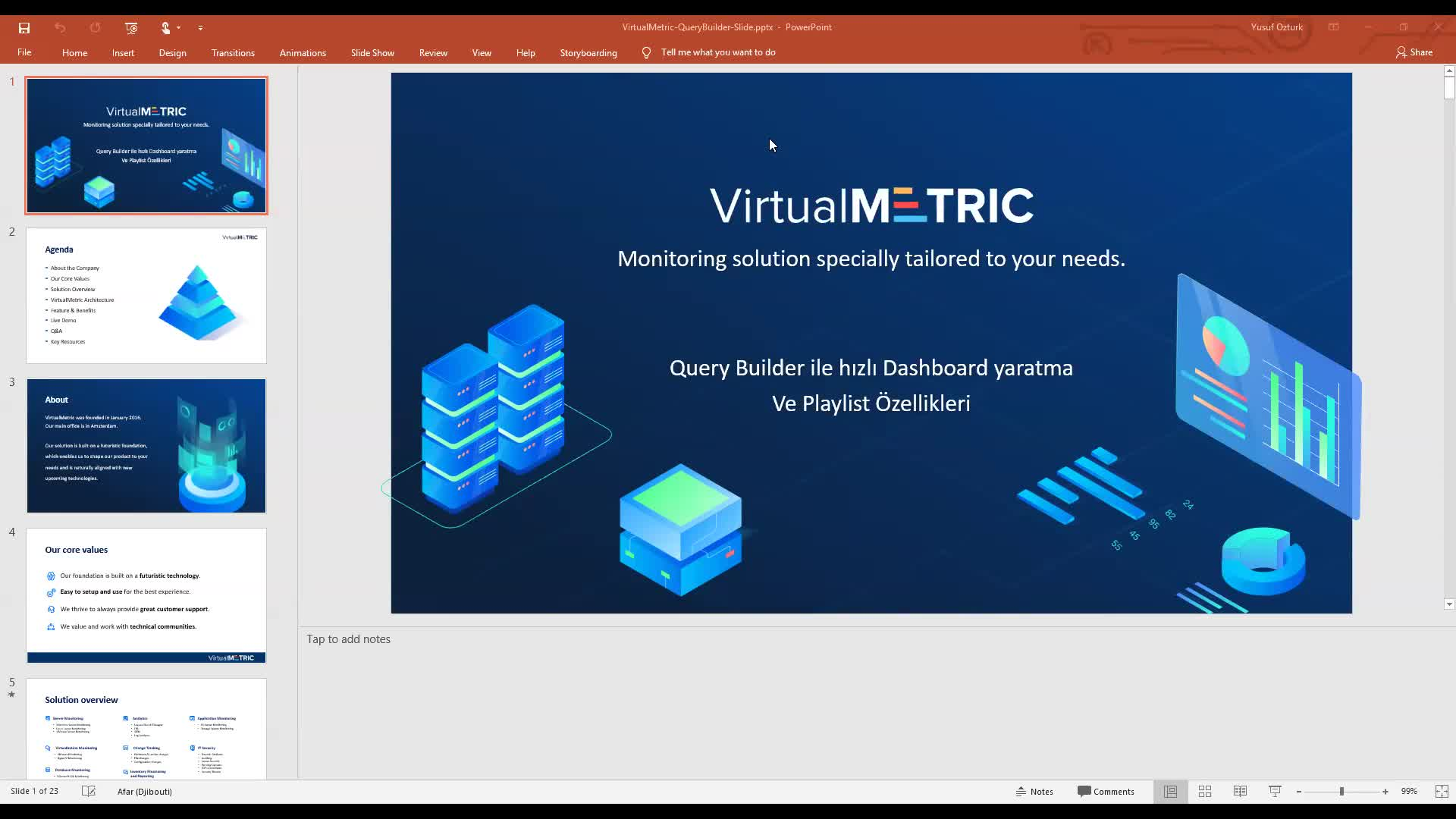 VirtualMetric Query Builder ile Hızlı Dashboard Yaratma ve Playlist Özellikleri